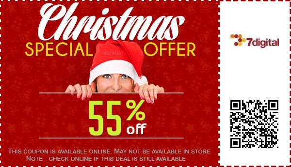 Up to 44 off 7digital coupon promo code for september 2018 7digital deals fandeluxe Images