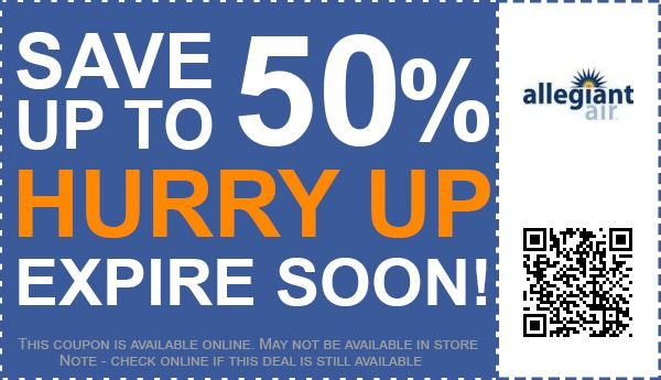 Allegiant air coupon codes
