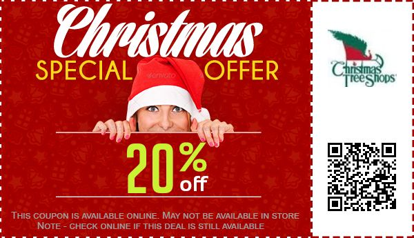 Christmas Tree Shops Coupons: 95% off Coupon, Promo Code Oct. 2017