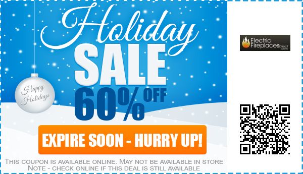 Electric Fireplaces Direct Coupons: 60% off Coupon, Promo Code 2017