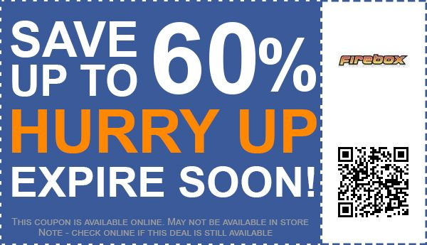 60 off firebox discount codes promo codes free for Firebox promotion code