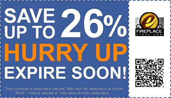eFireplaceStore Coupons: 26% off Coupon, Promo Code October 2017