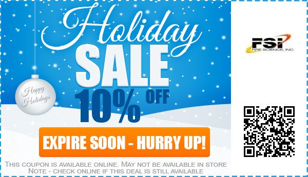 up to 10 off fsi fire science inc coupon promo code feb 2019. Black Bedroom Furniture Sets. Home Design Ideas