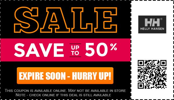 Helly hansen coupons 2018