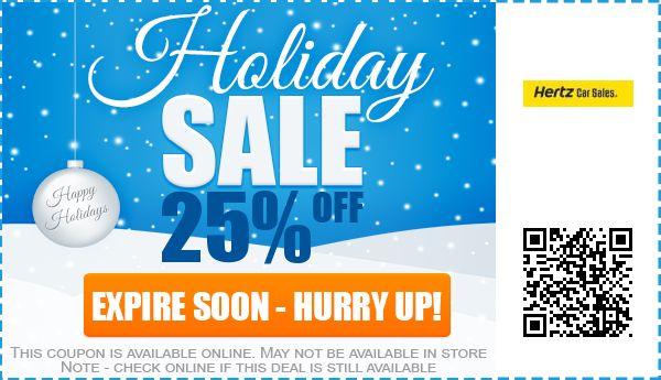 Hertz Car Sales Coupons: 30% off Promo Code 2017