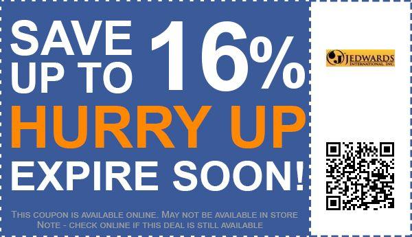 Jedwards International, Inc. coupon code