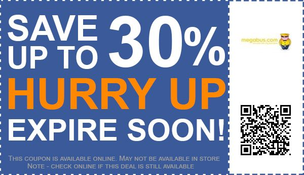 Megabus discount coupons