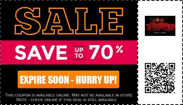 Netherworld discount coupons