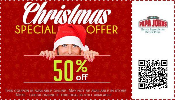 Papa John's Coupons: 50% off Coupon, Promo Code October 2017
