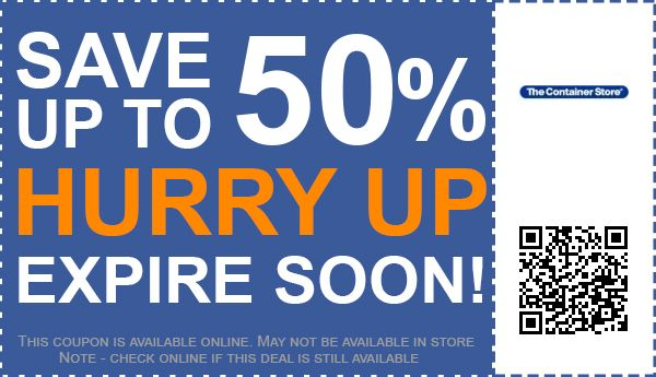 container store coupon 2019